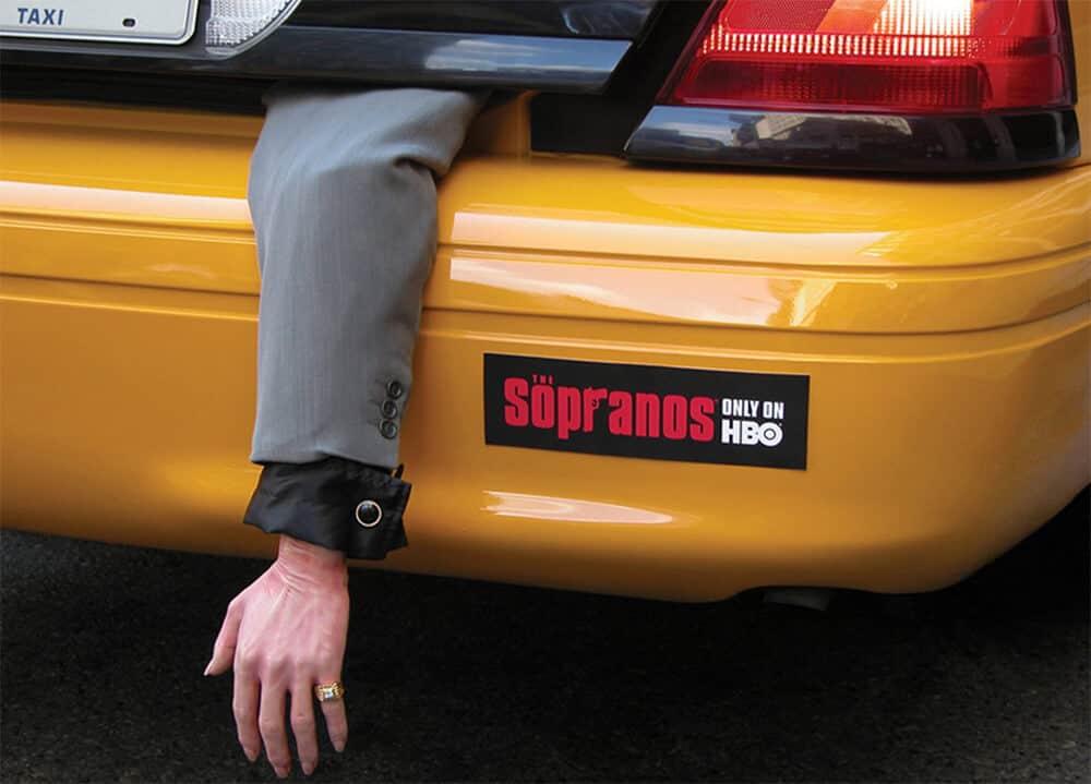 Gerillamarketing egy taxin
