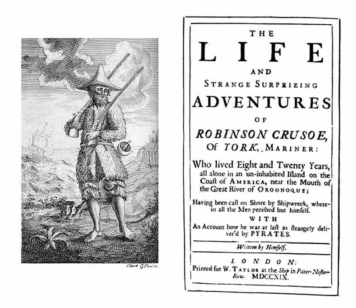 A Robinson-lista és a Robinson Crusoe című könyv kapcsolata